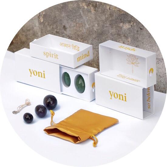 Yoni vejce certifikvoané GIA master set v krabičce s pytlíčkem a přívěškem