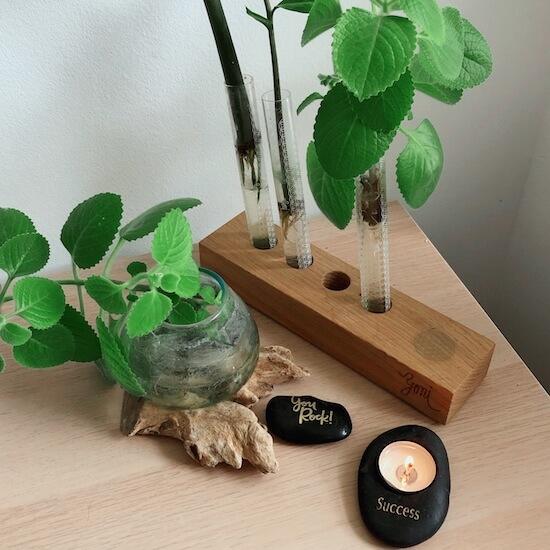 Dřevěný stojánek na rawtoothbrush