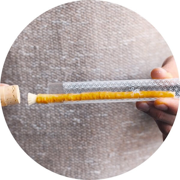 Rawtoothbrush ve skleněném pouzdře