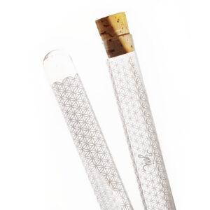 skleněné pouzdru na přírodní kartáček a rawtoothbrush