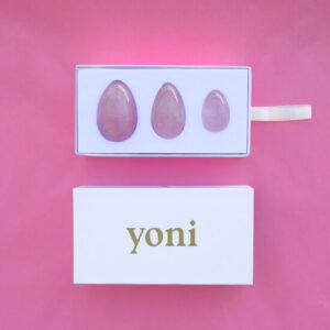 Růženín master set of yoni vajíčka GIA certifikované