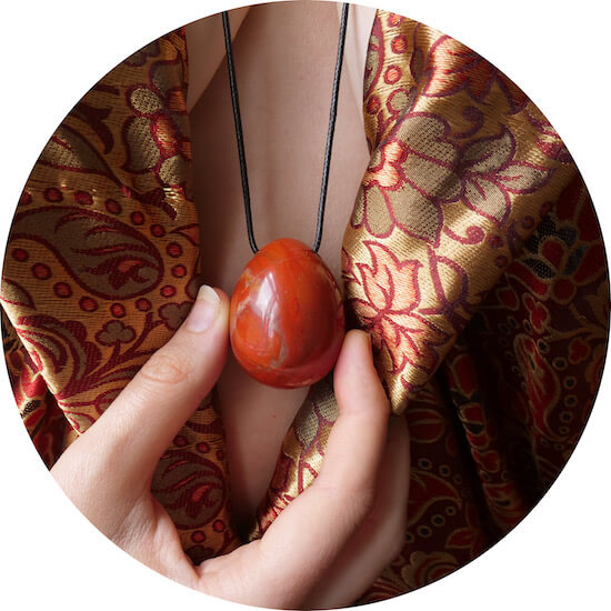 red jasper yoni egg certified GIA