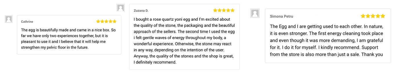 written reviews of Yoni eggs from our store