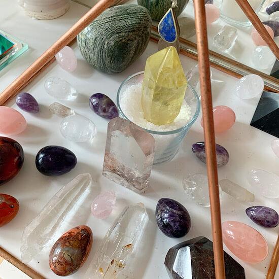Yoni eggs in Pyramid