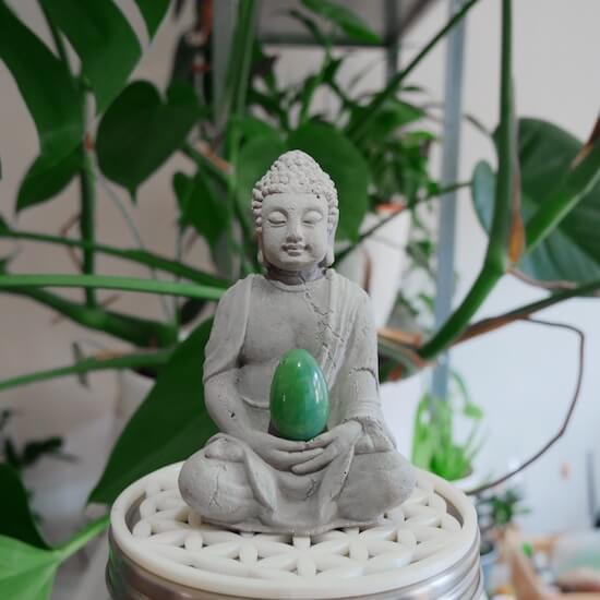 Buddha and Yoni egg