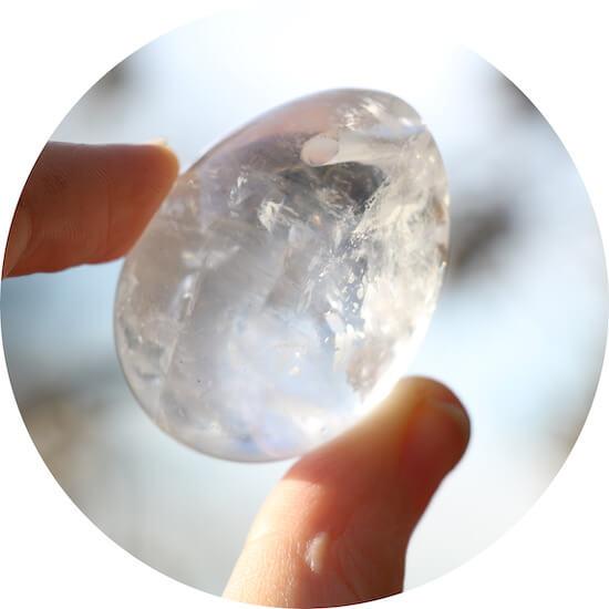crystal quartz yoni egg